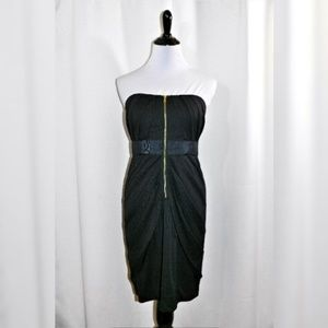 NWT Phoebe Couture Zip Front Strapless Mini Dress
